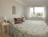 Bedroom. In newly converted house Stock Images