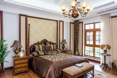 Bedroom. Luxury and beautiful furnished bedroom Stock Photo