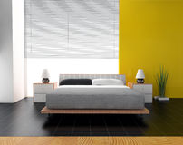 Bedroom. In modern style 3d rendering Royalty Free Stock Photography