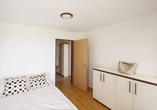 Bedroom in apartment. At Vivat SPA Stock Photo