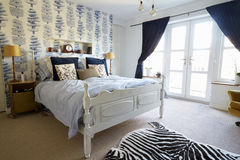 Bedroom Area In Modern Stylish Apartment Royalty Free Stock Photo