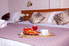 Bedroom of Ares hotel Royalty Free Stock Image