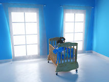 Bedroom for baby boy Royalty Free Stock Photos