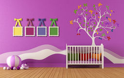 Bedroom for baby girls Stock Photos
