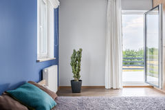 Bedroom with balcony idea Royalty Free Stock Photography