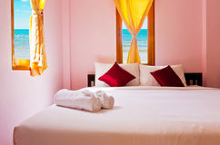 Bedroom at beach Royalty Free Stock Images