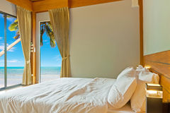 Bedroom at beach Royalty Free Stock Photography