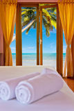 Bedroom at beach Stock Photography