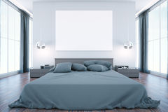 Bedroom with billboard Royalty Free Stock Photo