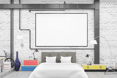 Bedroom: black walls Royalty Free Stock Photos