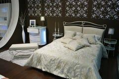 bedroom brown white Στοκ φωτογραφίες με δικαίωμα ελεύθερης χρήσης