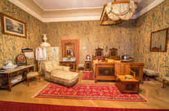 Bedroom from 19. cent in palace Saint Anton. Stock Photography