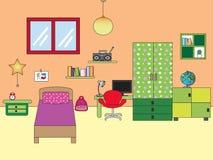 Bedroom children. Illustration of interior bedroom children Stock Photo