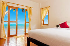 Bedroom at clean beach Royalty Free Stock Photography