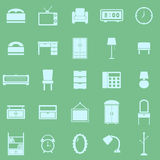 Bedroom color icons on green background Royalty Free Stock Photos
