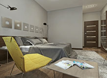 Bedroom constructivism style Royalty Free Stock Photo