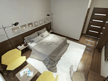 Bedroom constructivism style Stock Image