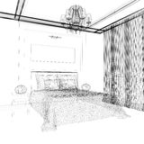 Bedroom in contemporary style Royalty Free Stock Photo