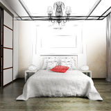 Bedroom in contemporary style Stock Photography
