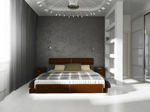 Bedroom in contemporary style Stock Images