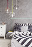Bedroom in contemporary style idea Royalty Free Stock Image