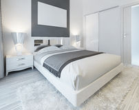 Bedroom in contemporary style. Royalty Free Stock Images