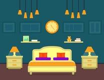 Bedroom cozy interior Royalty Free Stock Image