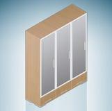 Bedroom Cupboard with Glass Doors Stock Photography