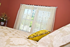 Bedroom Curtains Stock Image