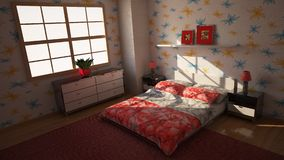 Bedroom 3d Stock Photo