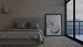 Bedroom. 3D render of a Bedroom Royalty Free Stock Image