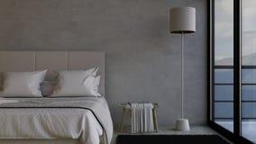 Bedroom. 3D render of a Bedroom Stock Photography