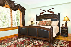 bedroom decor modern rustic Στοκ εικόνα με δικαίωμα ελεύθερης χρήσης