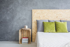 Bedroom with decorative wall finish Stock Photography