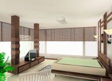 Bedroom design Stock Photos