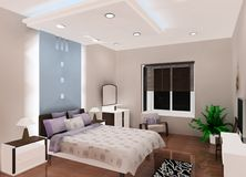 Bedroom design Royalty Free Stock Photos