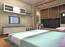 Bedroom design Stock Images