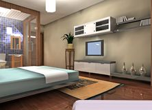 Bedroom design Stock Photos