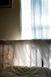 Bedroom detail simple with sunlight Stock Photos