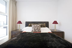 Bedroom Detail With King Size Bed Royalty Free Stock Photography