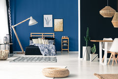 Bedroom and dining room Stock Images