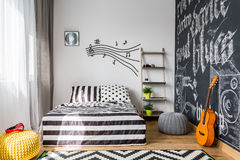 Bedroom every music lover needs Stock Photography