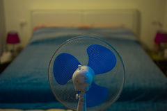 Bedroom fan cooler royalty free stock photography