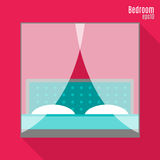 Bedroom in flat style Stock Photo