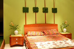 Bedroom floral horizontal Stock Images