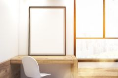 Bedroom with framed poster, close up, toned image royalty free illustration