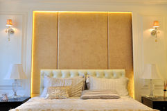 Bedroom furnitrue and decoration Stock Image