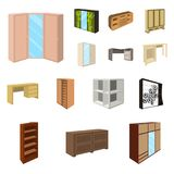 Wooden Furniture Set Vector Illustration Stock Vector