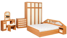 Bedroom furniture isolated Royalty Free Stock Image