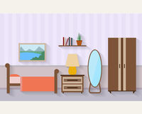 Bedroom with furniture Royalty Free Stock Photo